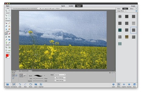 How to apply an instant rain effect to your image in Photoshop Elements 11 | Photoshop Creative | Creative Digital Media | Scoop.it