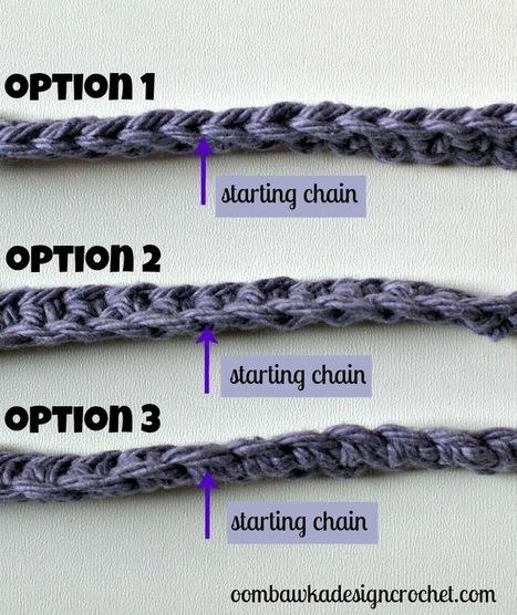 Oombawka Design *Crochet*: Crochet Tip of the Week - Alternate Ways to Work into the Starting Chain | CrochetHappy | Scoop.it