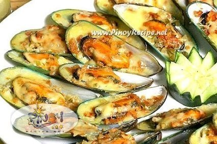 Filipino Baked Tahong Recipe (Baked Mussels) | Delicious Filipino Foods | Scoop.it