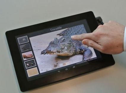 Un prototype de tablette tactile à effet haptique chez Fujitsu | Seniors | Scoop.it