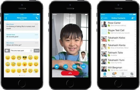 Skype apps for iPad and iPhone get an iOS 7 interface makeover | Mount Library | Scoop.it