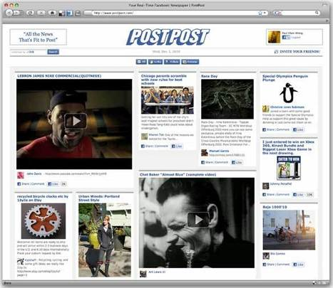 TigerLogic's PostPost: Facebook Shared Content in Newspaper Form - WebNewser | Journalism and Internet | Scoop.it