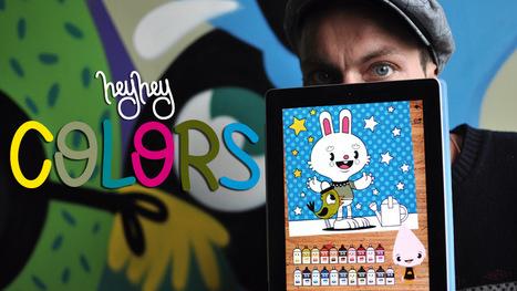 HeyHey Colors - street art based ipad colouring book app : HeyHey Apps   Appskinderen   Scoop.it