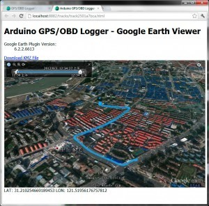 Google Earth based web viewer for Arduino GPS/OBD logger - Develop with Arduino | Arduino Geeks | Scoop.it