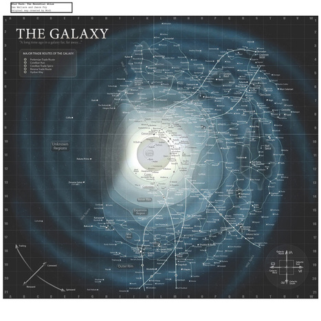 A planetary map of the entire Star Wars universe | Infographics | Scoop.it