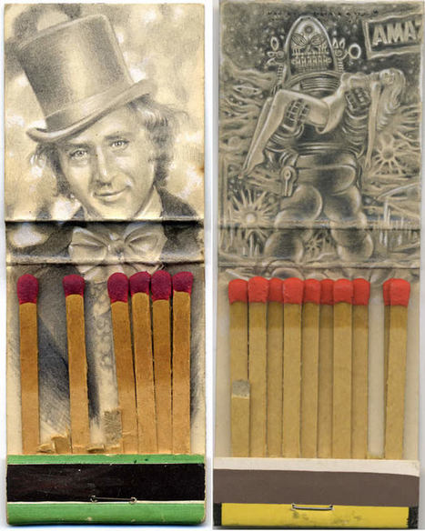 The #Matchbook #Artist. #art #illustration #recycle #everydayobjects | Luby Art | Scoop.it