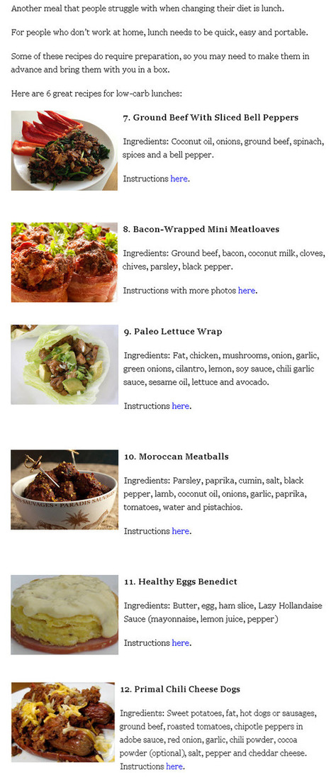 health safety and fitness- Secrets Revealed: 6 Low-Carb Lunch Recipes   Healthy Recipes and Tips for Healthy Living   Scoop.it