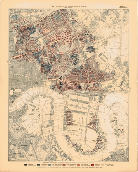 A pobreza na Londres em mapas vintage | Artigos Visual Loop | Scoop.it