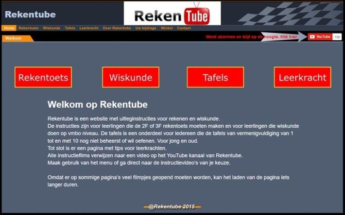 Edu-Curator: Rekentube: uitleginstructies / uitlegfilmpjes voor rekenen en wiskunde | Educatief Internet - Gespot op 't Web | Scoop.it