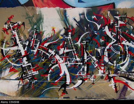Stock Photo - Paris, France, Wall Paintings, Graffiti, Abstract | Communication design | Scoop.it