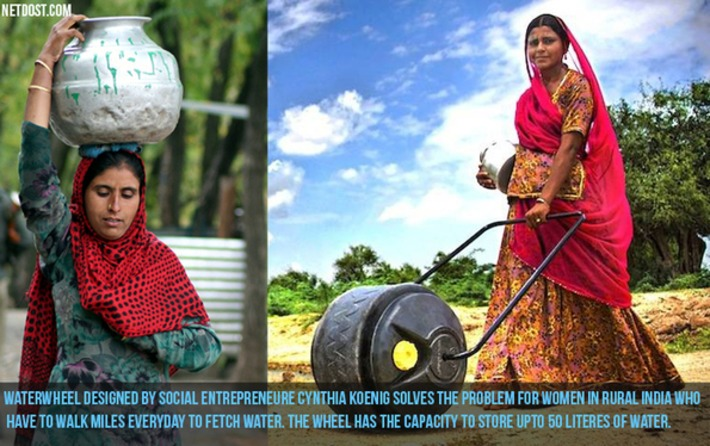 This device solves the problem for women who walk miles carrying water on their head | Herstory | Scoop.it