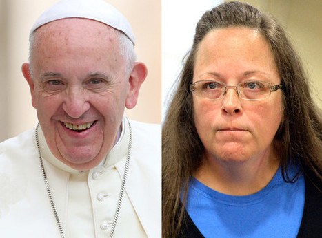 Pope Francis Met With Same-Sex Couple Before Kim Davis, Internet Rejoices - E! Online | email | Scoop.it