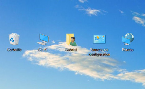 Windows 10 : comment mettre les icônes sur le bureau | Trucs et astuces du net | Scoop.it
