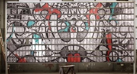 Un artiste réalise une oeuvre avec 400 Galaxy Note 2 | Geeks | Scoop.it