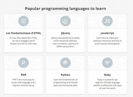 Codecademy : un service pour apprendre à coder facilement | Boite à outils E-marketing | Scoop.it