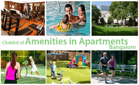 Amenities Checklist before buying Apartments in Bangalore | FlatsDeal | Scoop.it
