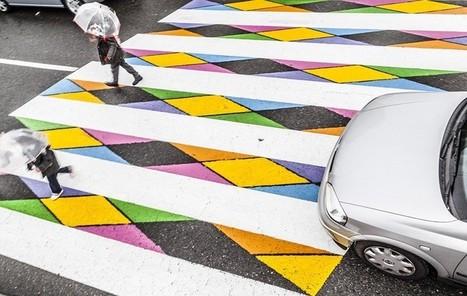 A Madrid, un artiste redonne des couleurs aux passages piétons ! | Curiosités planétaires | Scoop.it