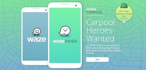 Avec Carpool, Waze se lance doucement dans le covoiturage | mobilité urbaine & tendances digitales | Scoop.it