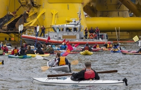 VIDEO. Seattle: Des centaines de kayaks et bateaux manifestent contre les forages pétroliers | Chronique d'un pays où il ne se passe rien... ou presque ! | Scoop.it
