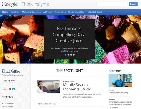 Google unveils powerful marketing tool, Think Insights | MoreMarketing | Scoop.it
