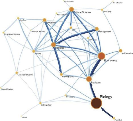 Maps of Citations Uncover New Fields of Scholarship - Research - The Chronicle of Higher Education | Social Network Analysis #sna | Scoop.it