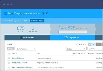 Audit your Content and Tag by Persona, Stage, Theme w/ Kapost Tool | Content Marketing and Curation for Small Business | Scoop.it