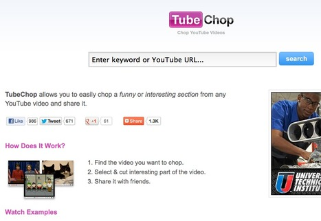 TubeChop - Chop YouTube Videos | English Language Teaching with Technology | Scoop.it