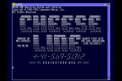 Ad for Cheese Line, a Swiss Amiga BBS. Sort of looks like a... | ASCII Art | Scoop.it