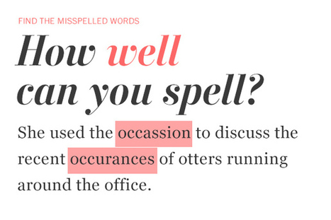 How well can you spell? | Online resources for learners of English as a foreign language | Scoop.it