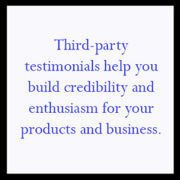 Daily Motivation – Third-Party Enthusiasm Builds Credibility | Will Lane Marketing | Scoop.it