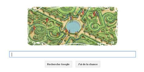 Un doodle en hommage au jardinier André Le Nôtre | Clic France | Scoop.it