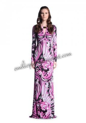 On Sale Emilio Pucci Cool Printed Evening Gown Purple [Printed Evening Gown Purple] - $212.99 : Emilio pucci dresses online outlet,discount pucci dresses on sale! | chic items | Scoop.it