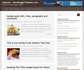 Jobpress Blogger Template - Best Blogger Templates | New Blogger ... | Blogger themes | Scoop.it