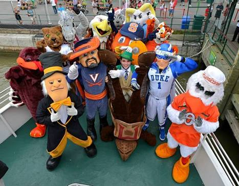 ACC mascots on a boat take over NYC (PHOTOS) | Best Mascots | Scoop.it