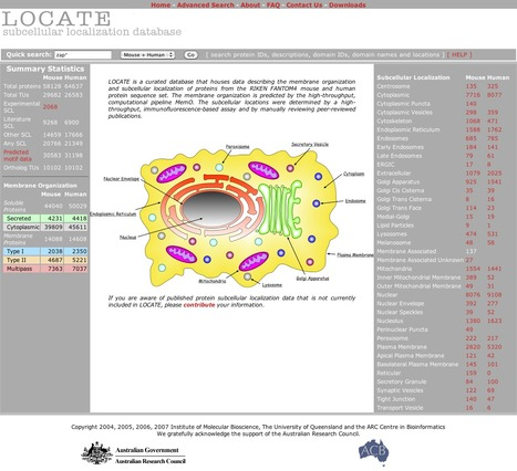 LOCATE - A Mammalian Protein Localization Database | bioinformatics-databases | Scoop.it
