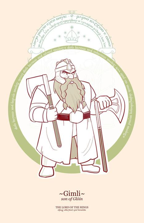 Francisco Guerrero : Cartoon Lord Of The Rings Heroes | All Geeks | Scoop.it