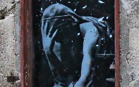 Vidéo : Banksy dévoile une oeuvre dans les ruines de Gaza | Instantanés | Scoop.it