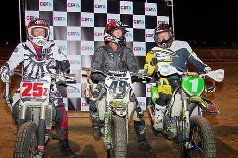 Curtis Peebles, Donnie Darrah and Kevin Keeran on the podium last Saturday night... | California Flat Track Association (CFTA) | Scoop.it
