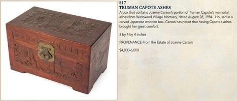 Les cendres de Truman Capote bientôt vendues aux enchères | TdF  |   Culture & Société | Scoop.it