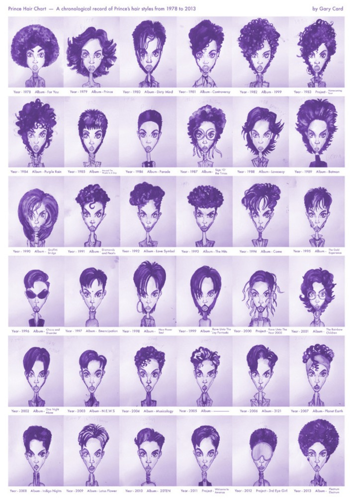 Every Prince Hairstyle from 1978 - 2013 | Nerdy Needs | Scoop.it