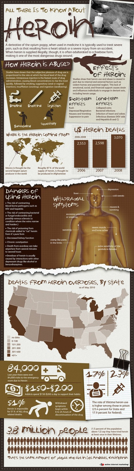 Case Study: All about Heroin - Facts, Effects and Recovery | All Infographics | All Infographics | Scoop.it