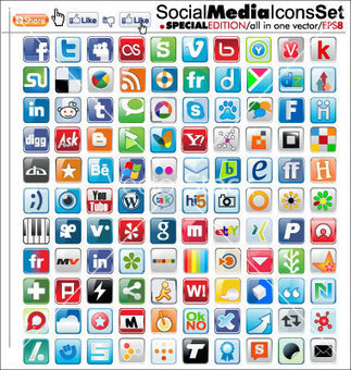 Free Vector | Social media icons vector 595202 by creative4m | Royalty Free Vector Art, Vector Graphics & Clipart | VectorStock®.com | Curiosidades de la Red | Scoop.it