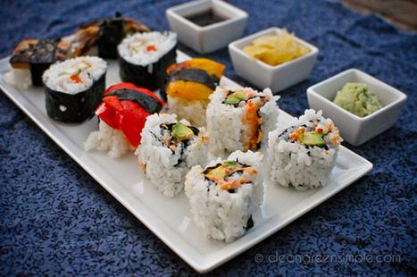 How to Make Vegan California Sushi - One Green Planet | VegHeads | Scoop.it