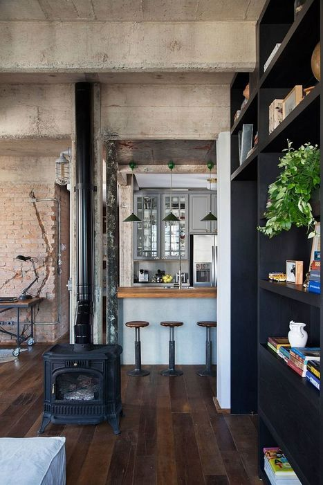 Exposed duct work, pipes and brick walls give the interior a distinct industrial appeal - Decoist | Raw and Real Interior Design | Scoop.it