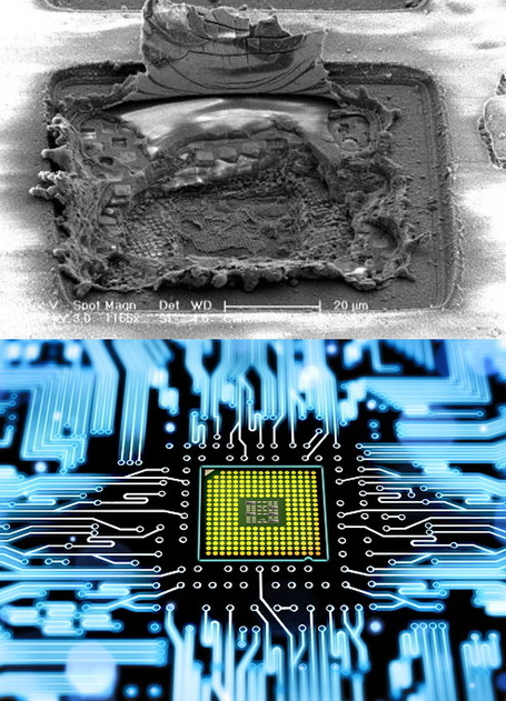 Electronic chips heal themselves after destructive laser blast | Amazing Science | Scoop.it