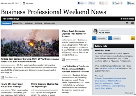 Aug 25 - Business Professional Weekend News | Business Futures | Scoop.it