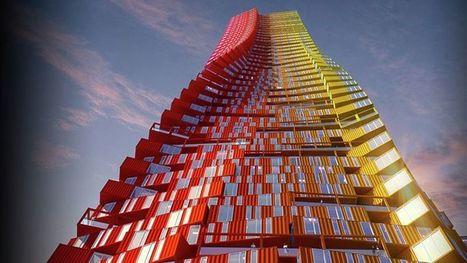 Quand une pile de conteneurs abrite des milliers de logements | D'Dline 2020, vecteur du bâtiment durable | Scoop.it