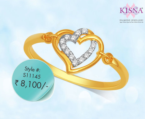 Express your true love with dazzling real diamond Ring by KISNA   Gold Diamond Jewellery Designs   Scoop.it