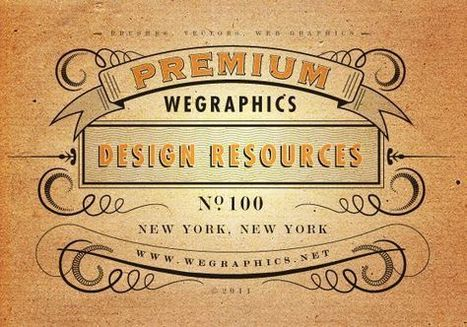 Vintage typography - Adobe Illustrator | Design, social media and web resources | Scoop.it