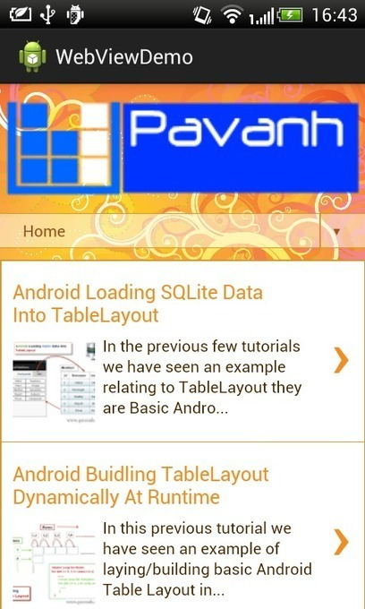 pavanh.com - Java Android tutorial ,code, games and app: Android WebView Example | TutorialsBuzz , Programming Blog for android ,java | Scoop.it
